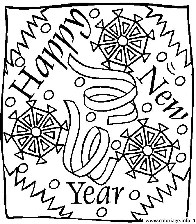 Dessin nouvel an 82 Coloriage Gratuit à Imprimer