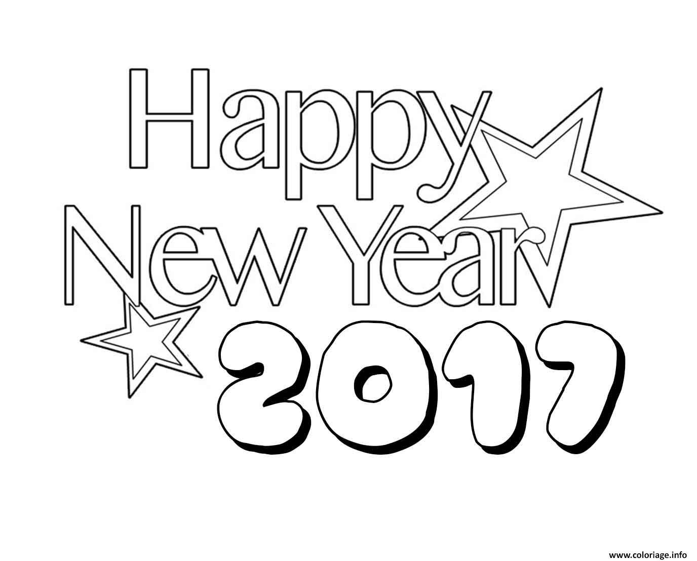 Coloriage nouvel an 2017 3 - Bonne annee coloriage ...