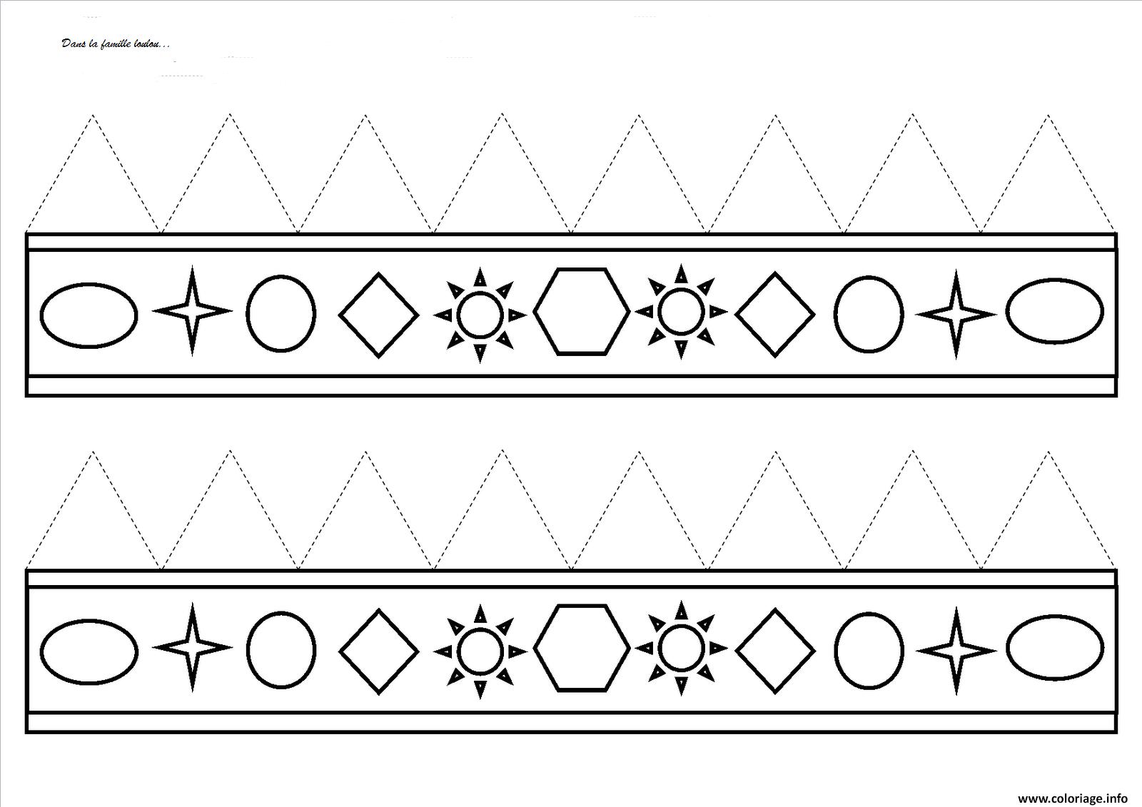 Coloriage couronne des rois petit maternelle - Couronne a colorier et imprimer ...