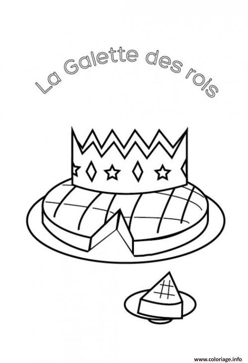 Coloriage la galette des rois pour enfants dessin - Coloriage galette ...