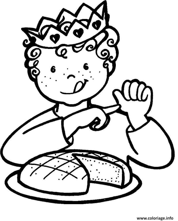 Coloriage galette enfant couronne rois dessin - Dessin sur galette des rois ...