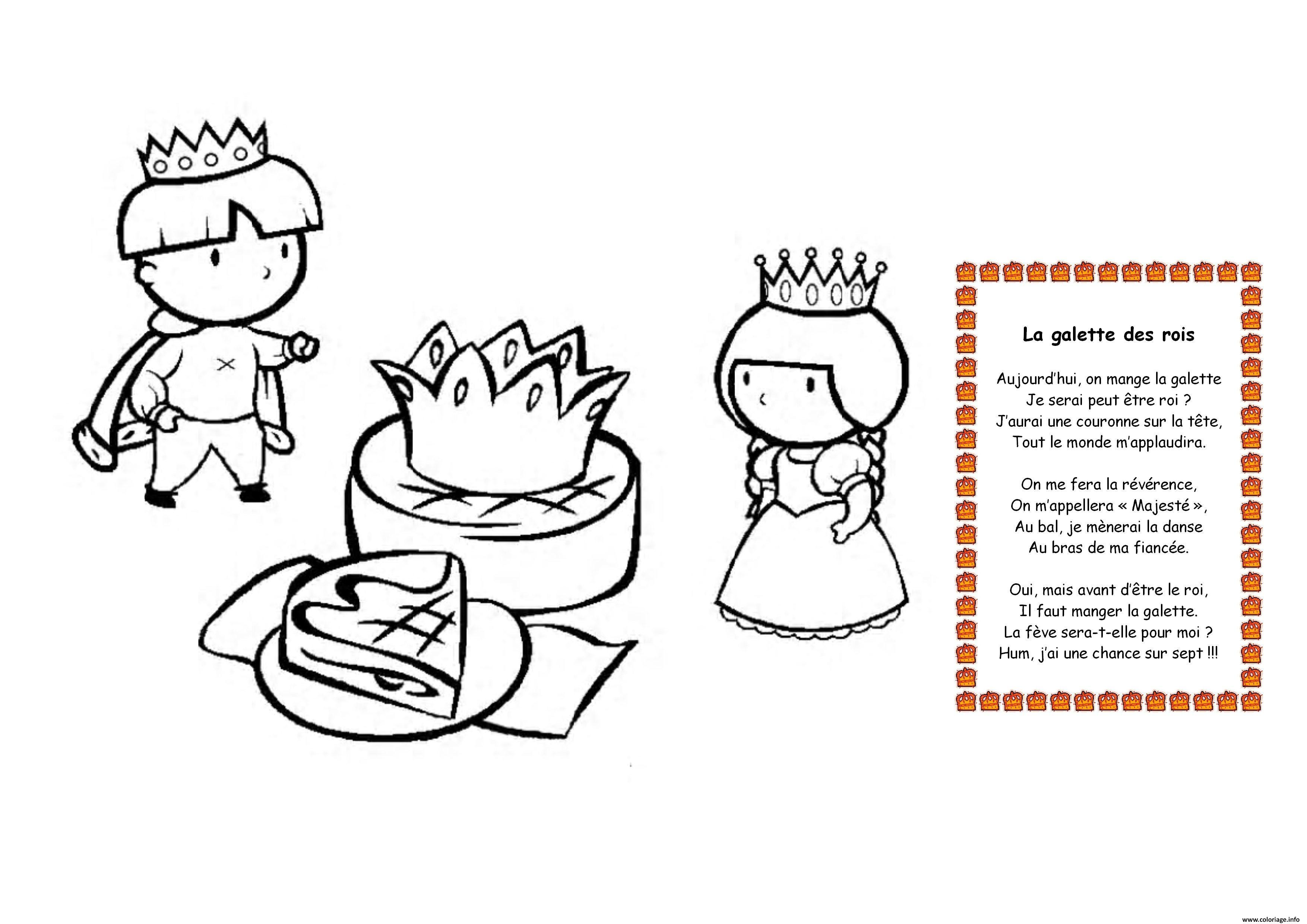 Coloriage la galette des rois dessin - Dessin sur galette des rois ...