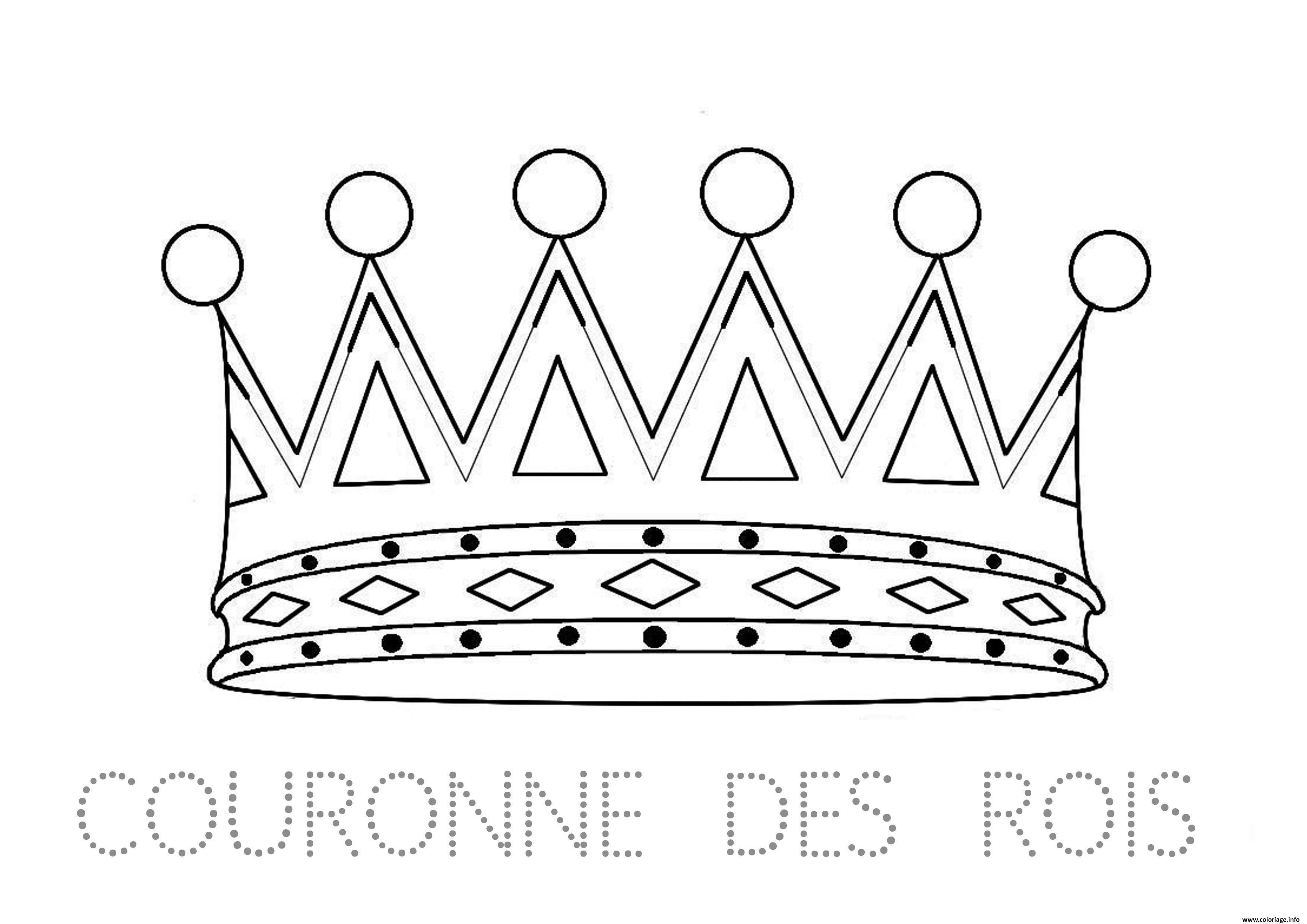 coloriage couronne des rois maternelle