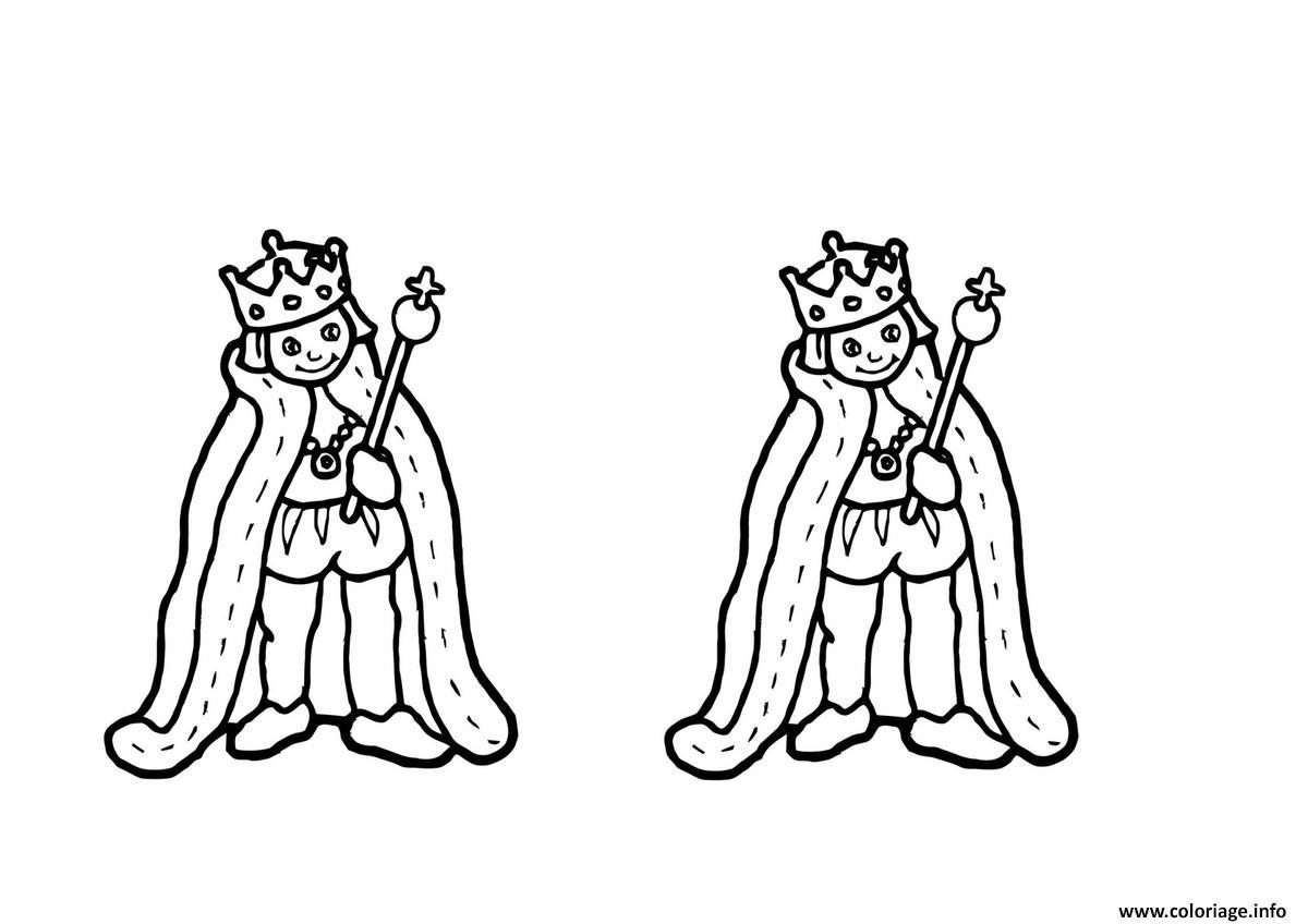 Coloriage roi se prepare pour la galette des rois dessin - Dessin sur galette des rois ...