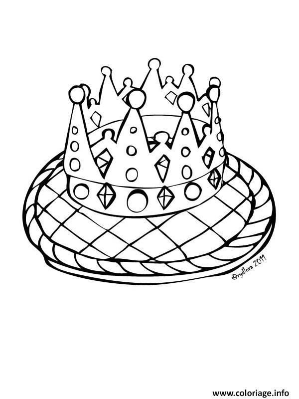 Coloriage galette couronne rois - Des dessin a imprimer gratuit ...