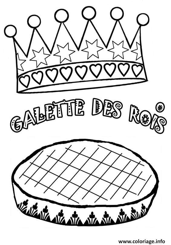 Dessin galette des rois janvier Coloriage Gratuit à Imprimer