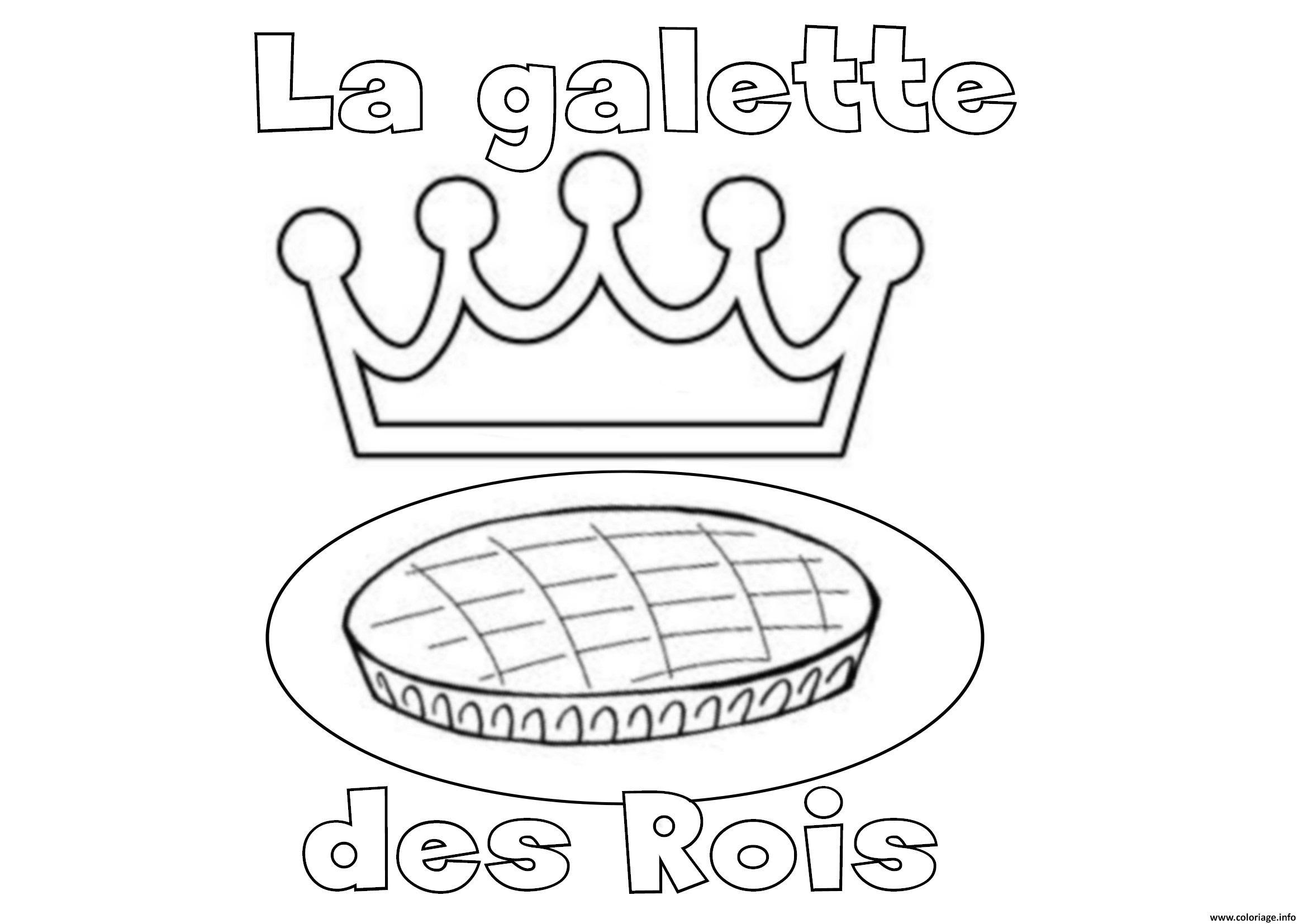 Coloriage la galette des rois janvier dessin - Dessin sur galette des rois ...