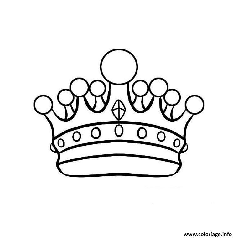 Coloriage couronne des rois facile enfants dessin - Dessin couronne princesse ...