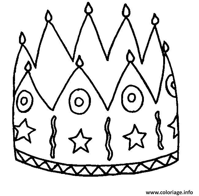 Coloriage couronne des rois facile dessin - Coloriage couronne ...