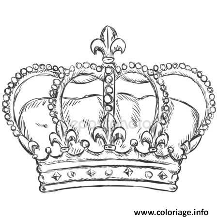 Coloriage couronne des rois royal crown - Dessin couronne princesse ...