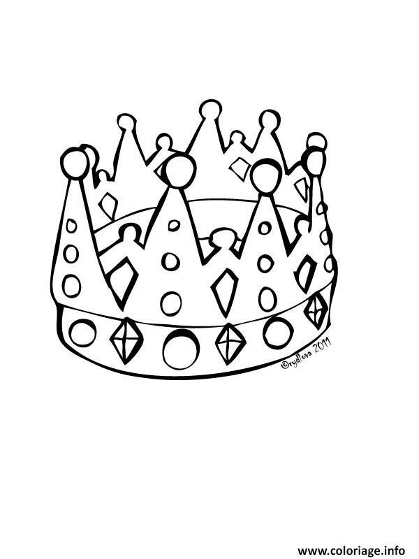 Coloriage couronne des rois simple dessin - Coloriage galette ...