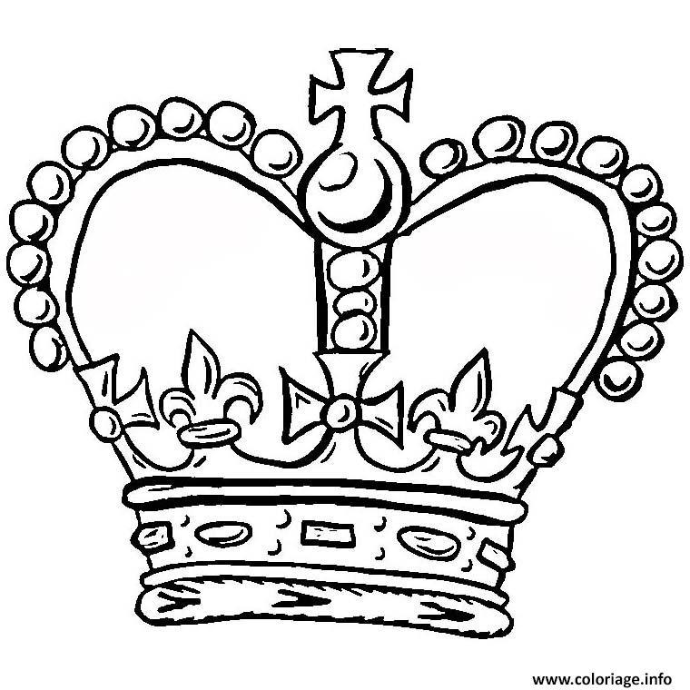 Dessin couronne roi chef d etat Coloriage Gratuit à Imprimer