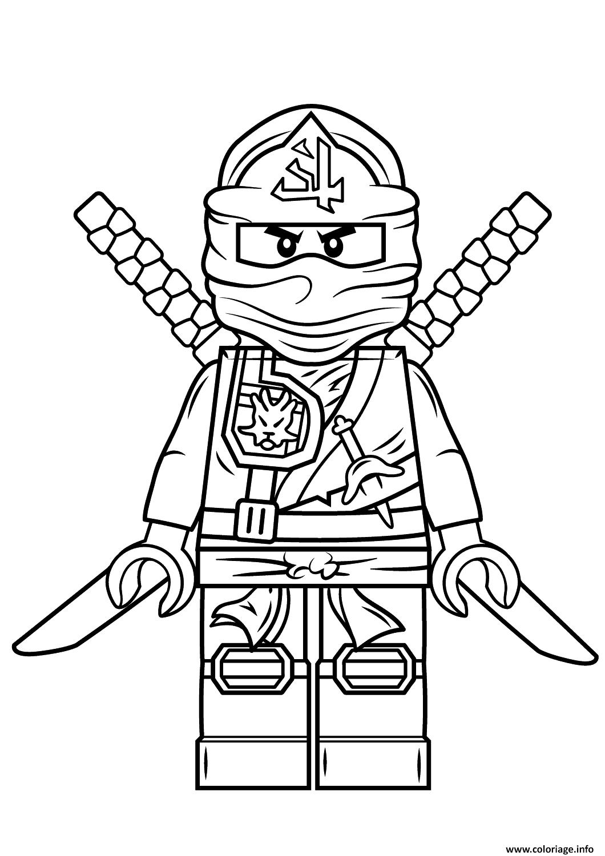 Coloriage lego ninjago green ninja vert - Dessiner un ninja ...