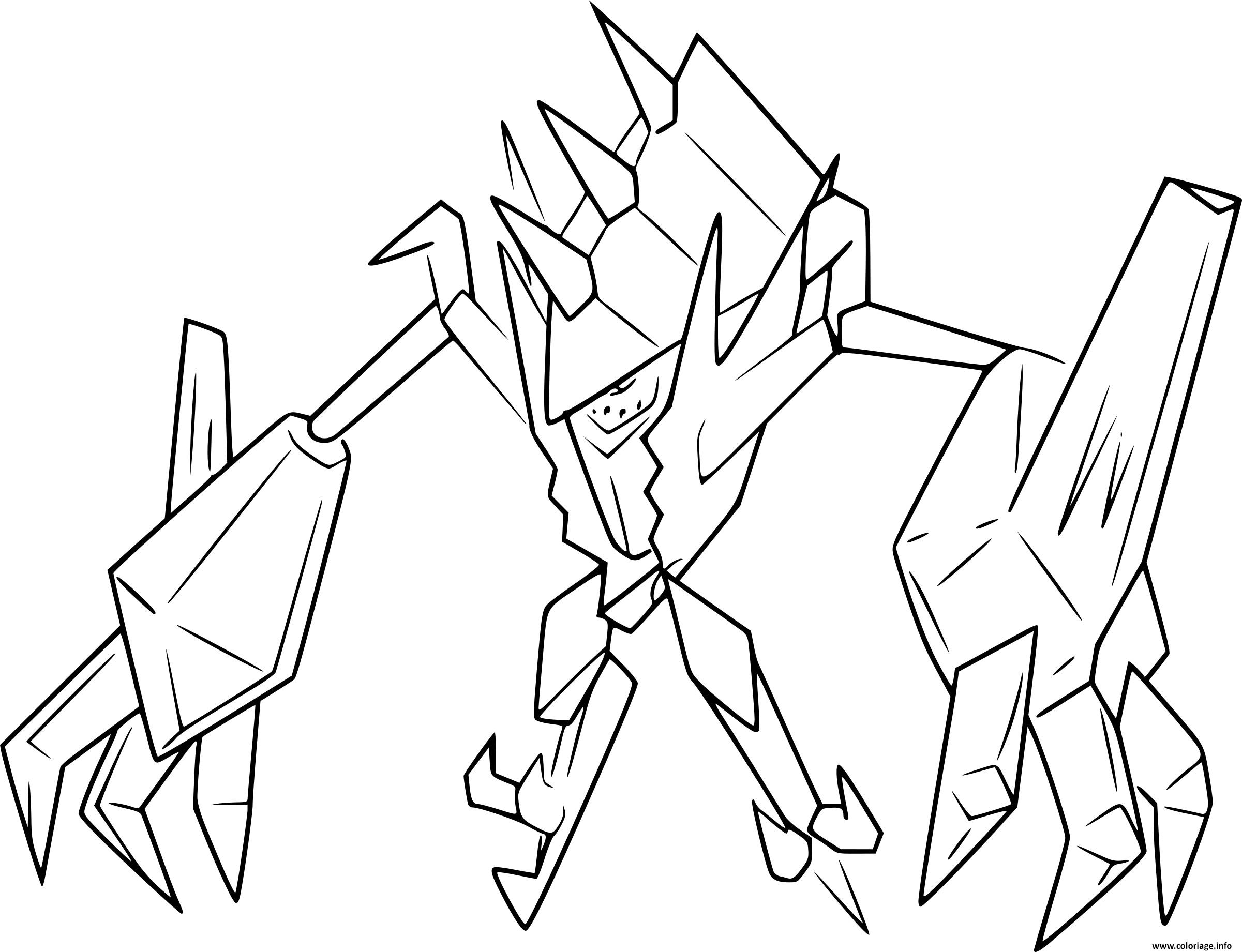 Coloriage Pokemon Legendaire Necrozma Dessin