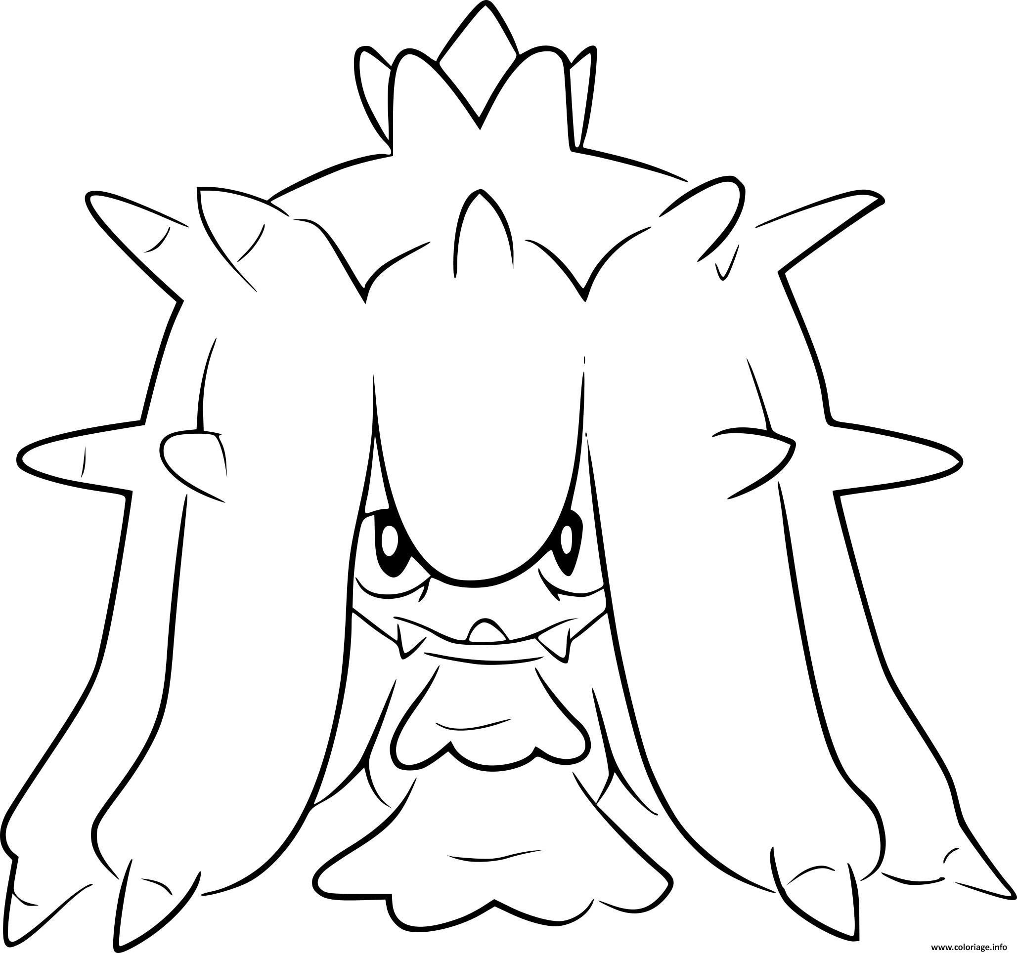 pokemon noir et blanc vorasterie coloriage dessin
