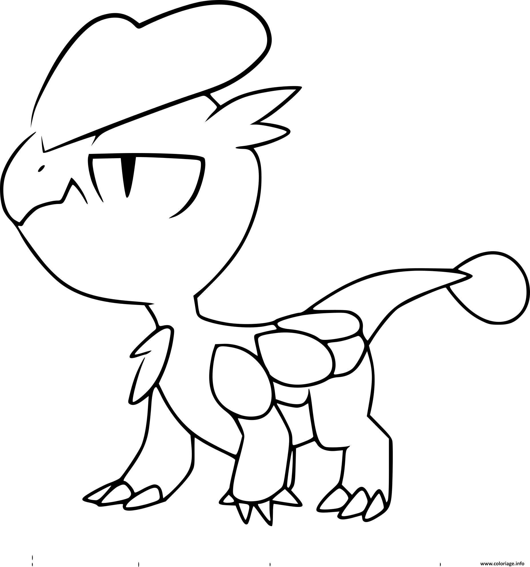 pokemon xy bebecaille coloriage dessin