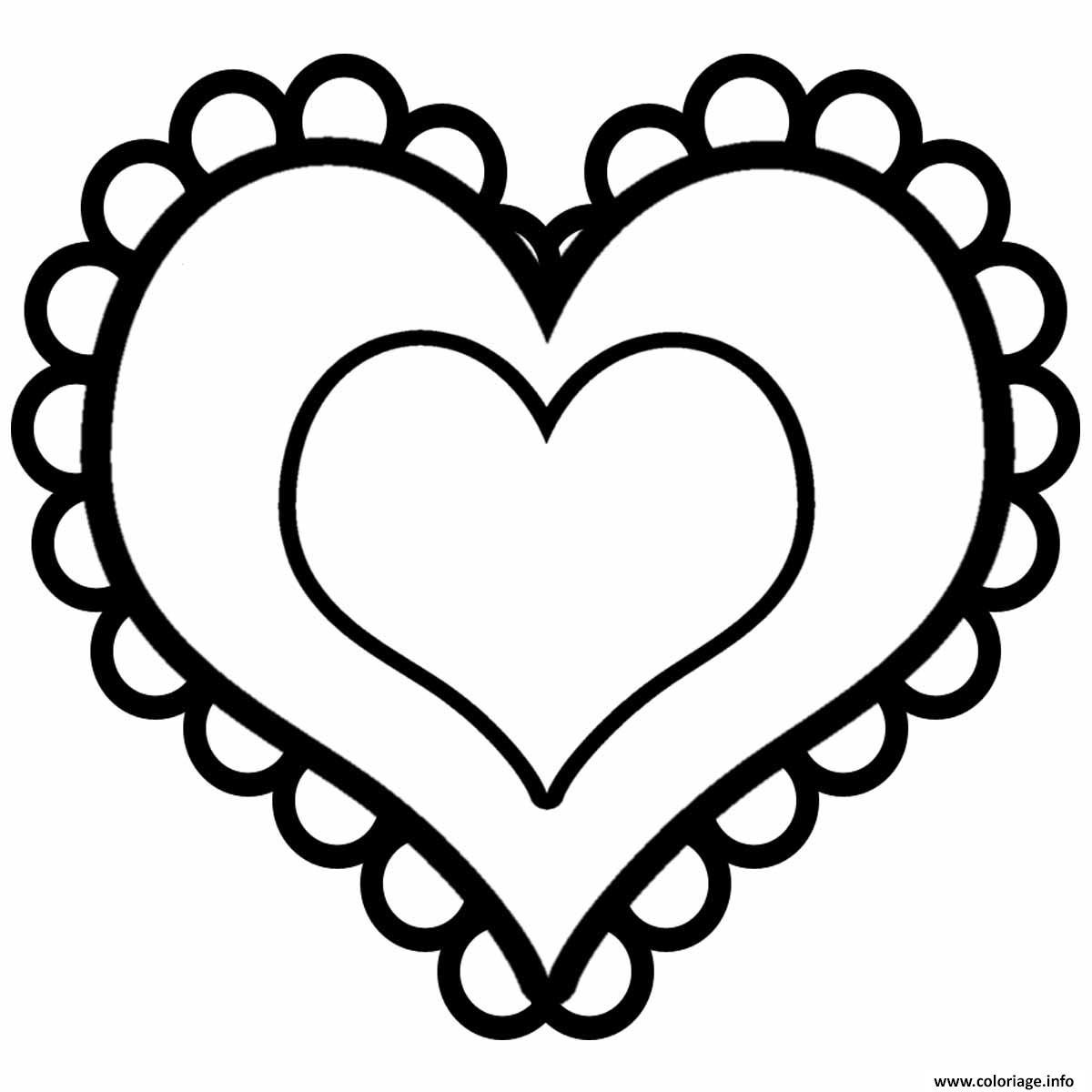 Coloriage coeur saint valentin 15 - JeColorie.com