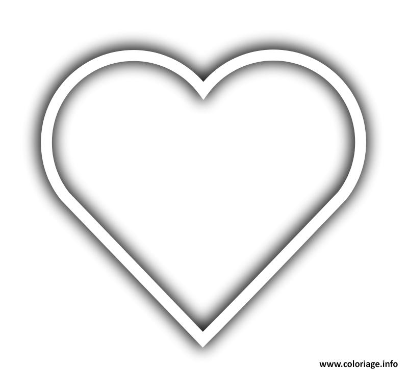 Dessin coeur 90 Coloriage Gratuit à Imprimer
