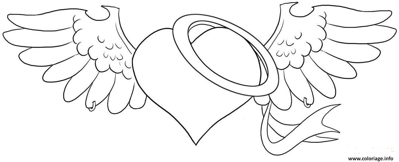 Coloriage coeur saint valentin dessin