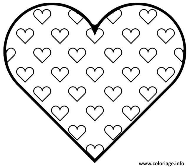 Coloriage coeur 76 dessin - Coeur en dessin ...