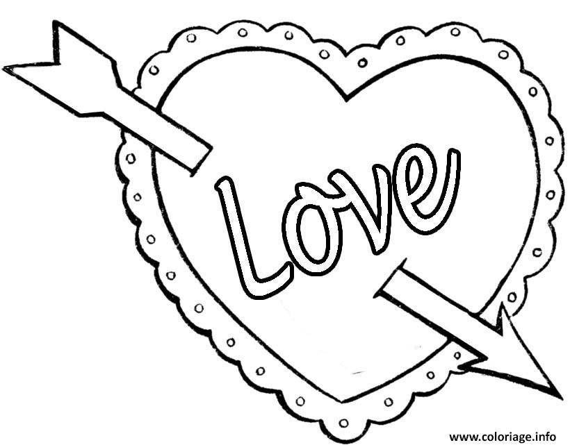 Coloriage Coeur Saint Valentin 116 Jecolorie Com