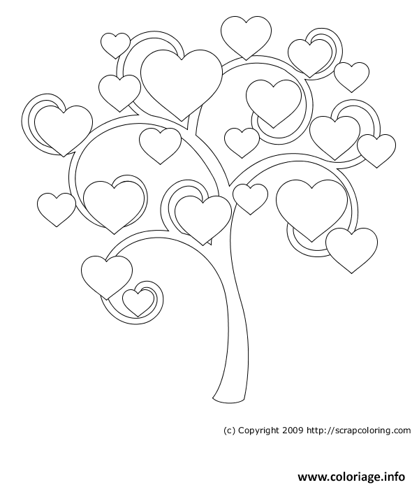 coloriage arbre de coeur dessin. Black Bedroom Furniture Sets. Home Design Ideas