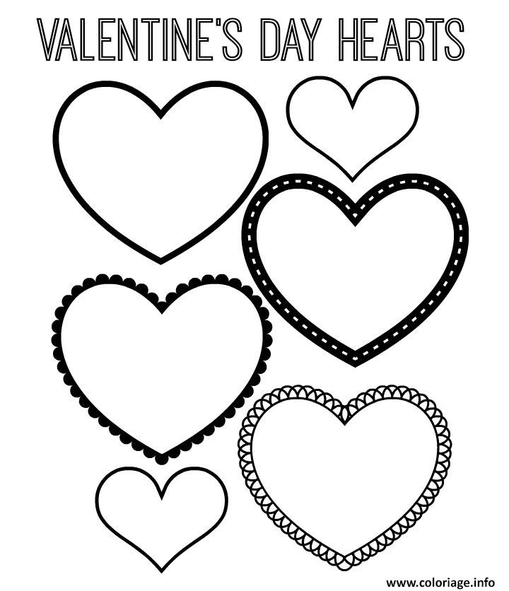 Coloriage coeur saint valentin 122 dessin - Dessin de saint valentin ...