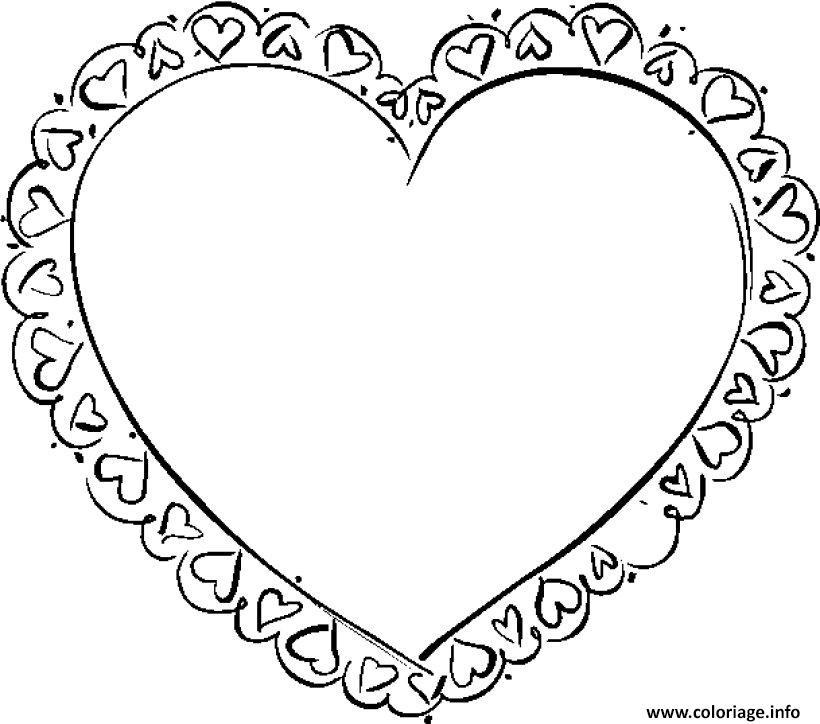 Coloriage Coeur Motif.Coloriage Coeur Saint Valentin 29 Jecolorie Com