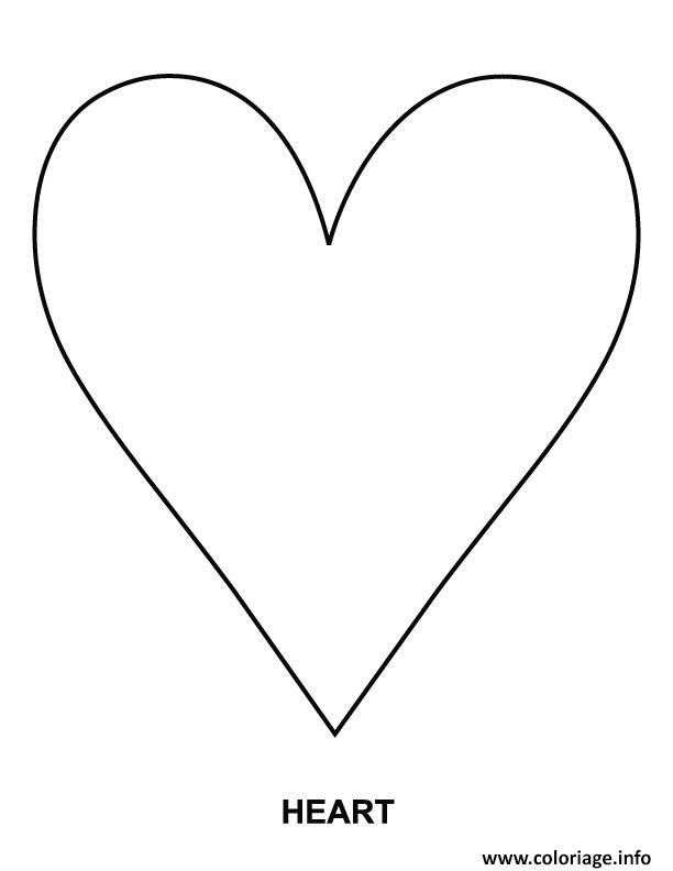 Coloriage coeur amour 46 - Dessins de coeur ...