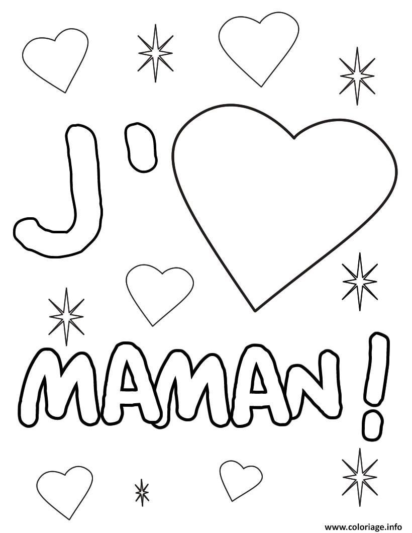 coeur maman coloriage