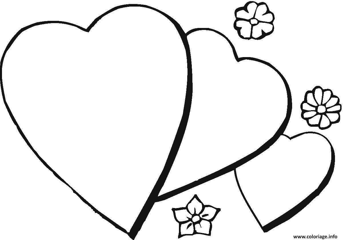 Coloriage coeur 61 dessin - Coeur en dessin ...