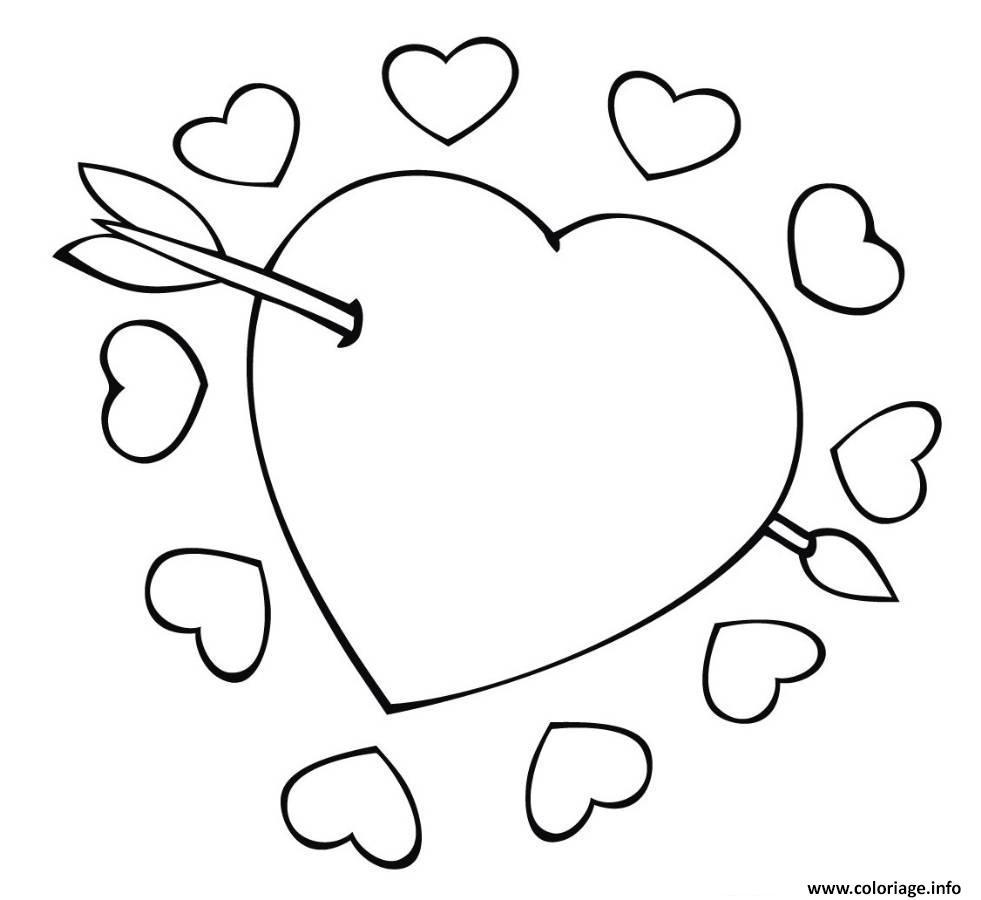 Coloriage Coeur Amour Gratuit.Coloriage Coeur Amour 38 Jecolorie Com