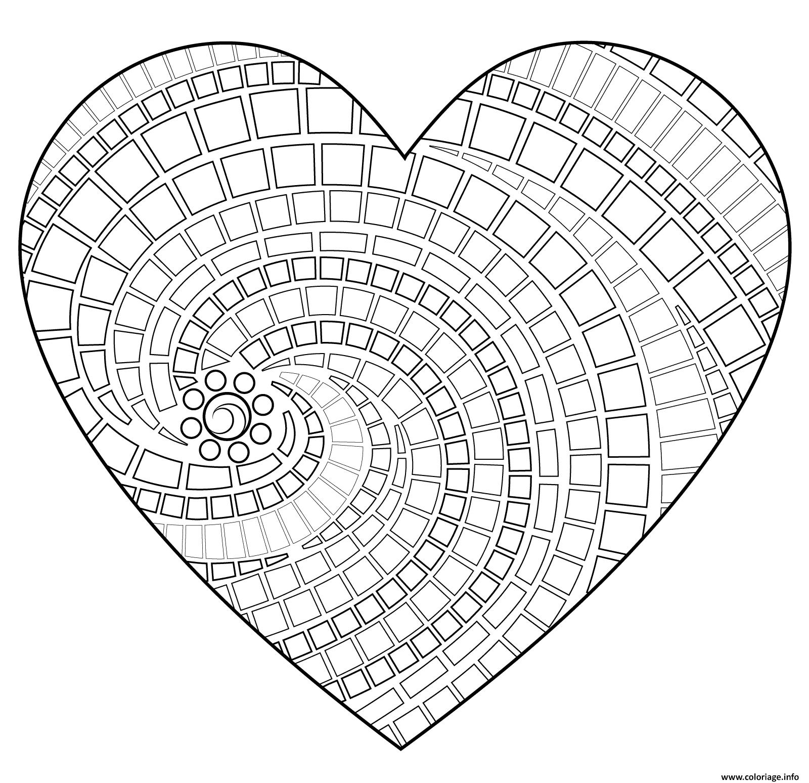 Coloriage Coeur De St Valentin.Coloriage Coeur Saint Valentin 149 Dessin