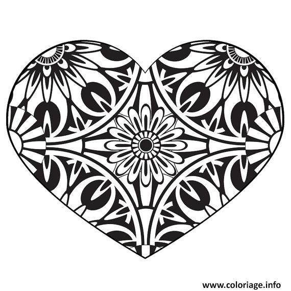 Coloriage Adulte A Imprimer Amour.Coloriage Coeur Amour Adulte Jecolorie Com
