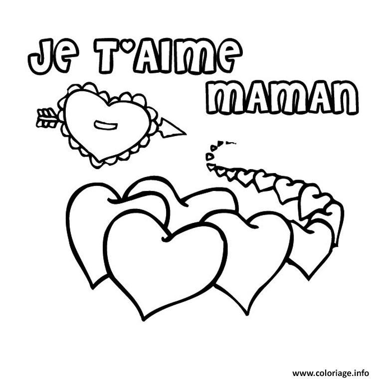 Coloriage Coeur Maman 2 Jecolorie Com