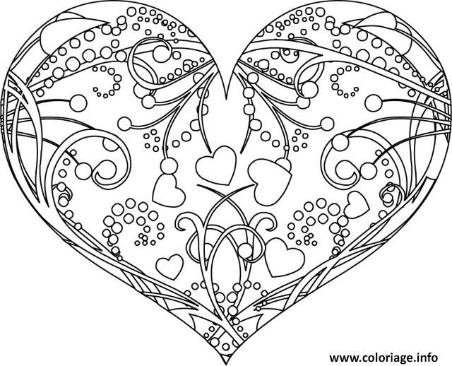 Coloriage Coeur Licorne.Coloriage Coeur Mandala Laborde Yves
