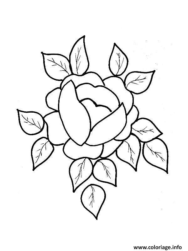 Coloriage Roses 125 Dessin Rose à imprimer