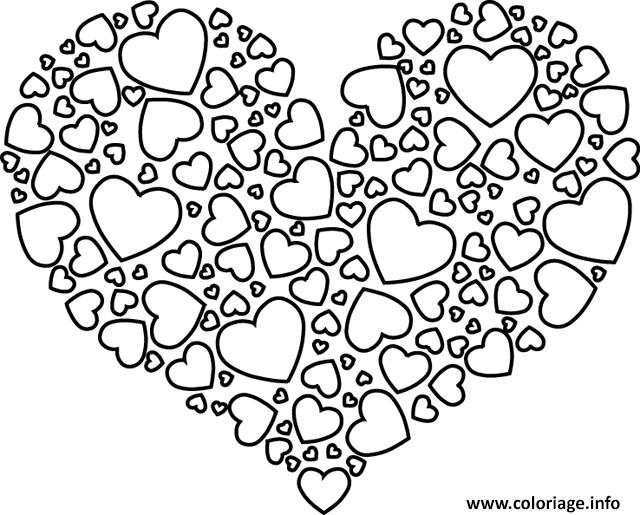 Coloriage Coeur Gratuit.Coloriage Coeur Avec Des Petits Coeurs Dessin