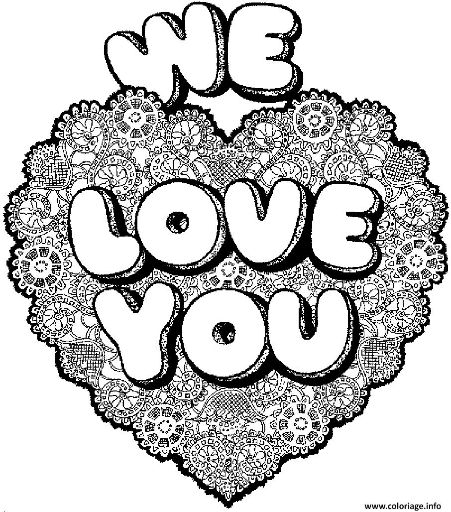 Coloriage coeur love you dessin - Dessins a colorier gratuits a imprimer ...