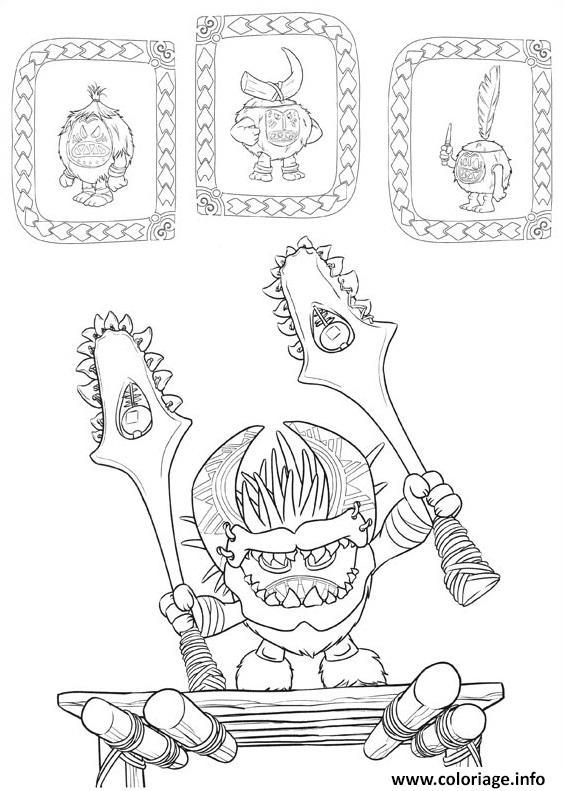 Coloriage la tribu des kakamoras vaiana dessin - Coloriage a imprimer vaiana ...
