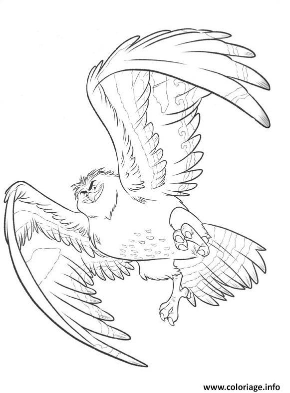 Dessin maui se transforme en aigle royal vaiana Coloriage Gratuit à Imprimer