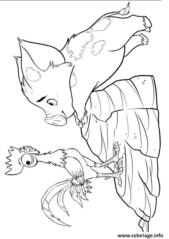 Hei Hei Coloring Page Coloring