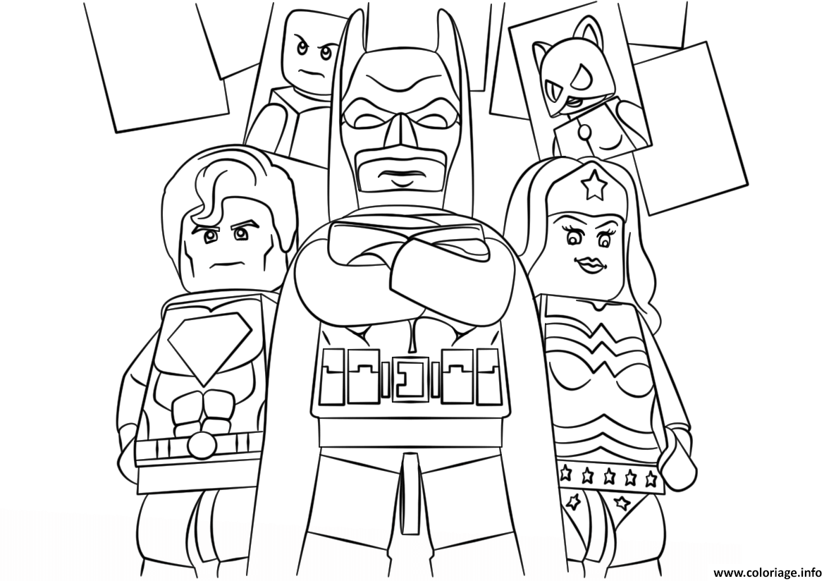 Coloriage Lego Super Heroes Batman Dessin