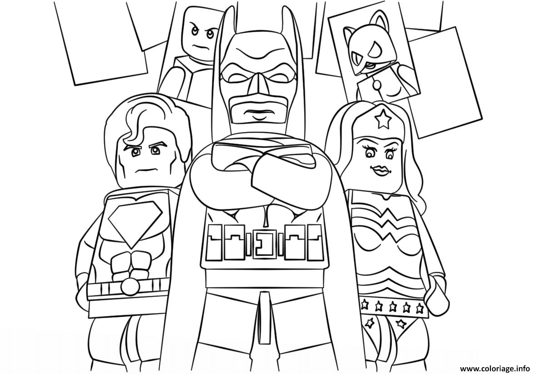 lego super heroes batman coloriage