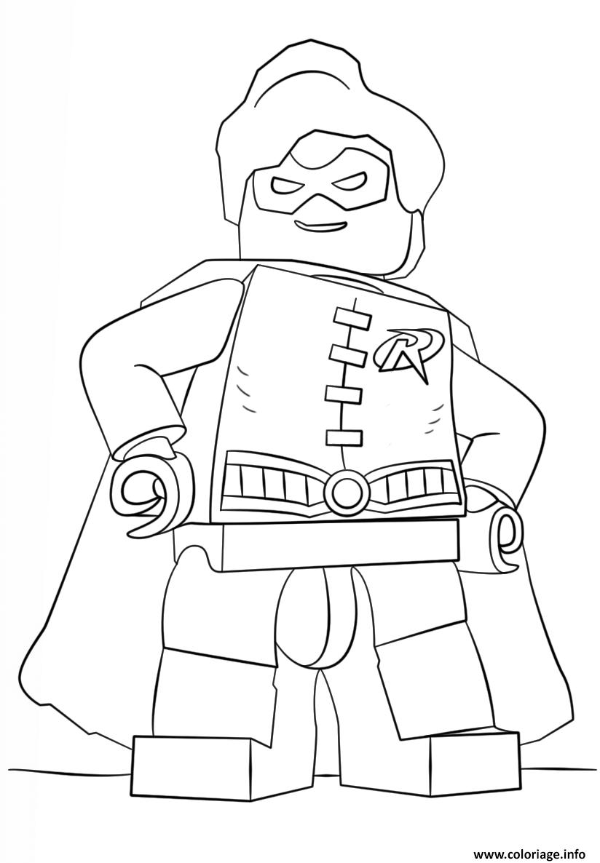 Coloriage Lego Batman Robin Jecolorie Com