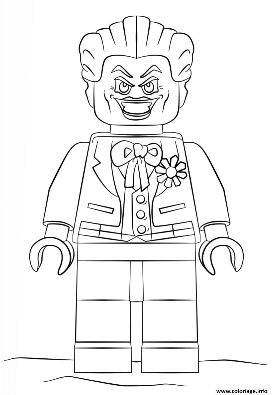 Coloriage Lego Joker Batman Dessin