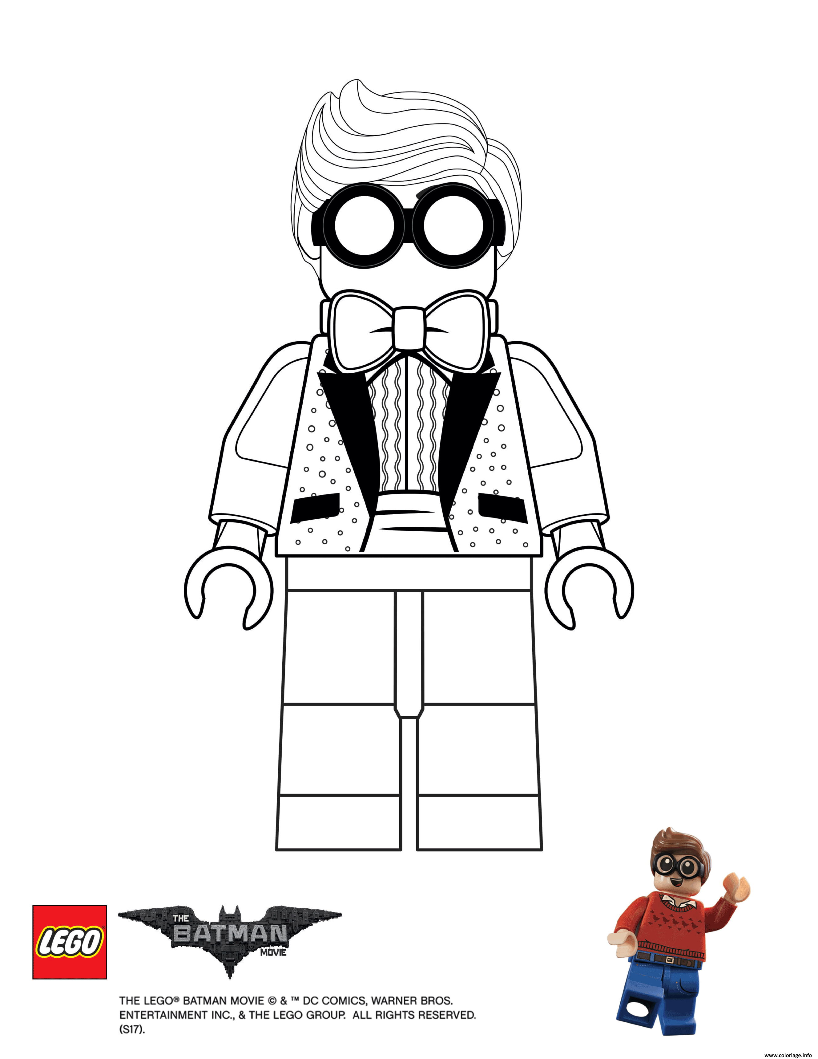 Coloriage Dick Grayson Lego Batman Movie Jecolorie Com