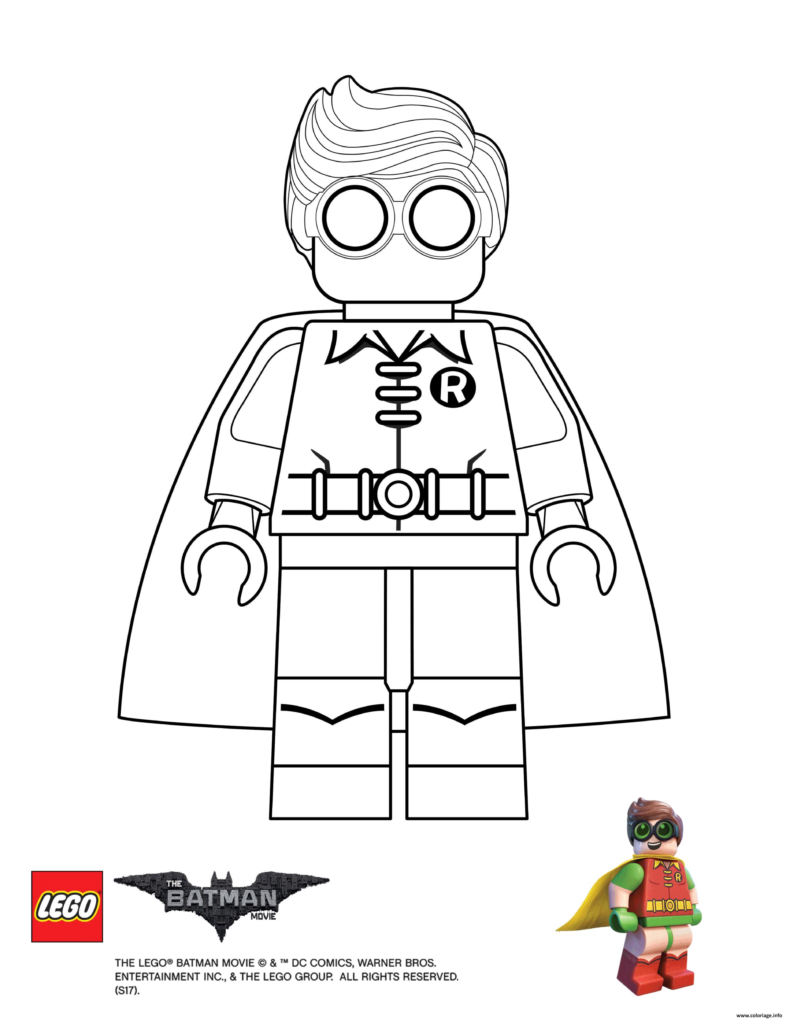 Coloriage Magique Batman.Coloriage Robin Lego Batman Movie Dessin