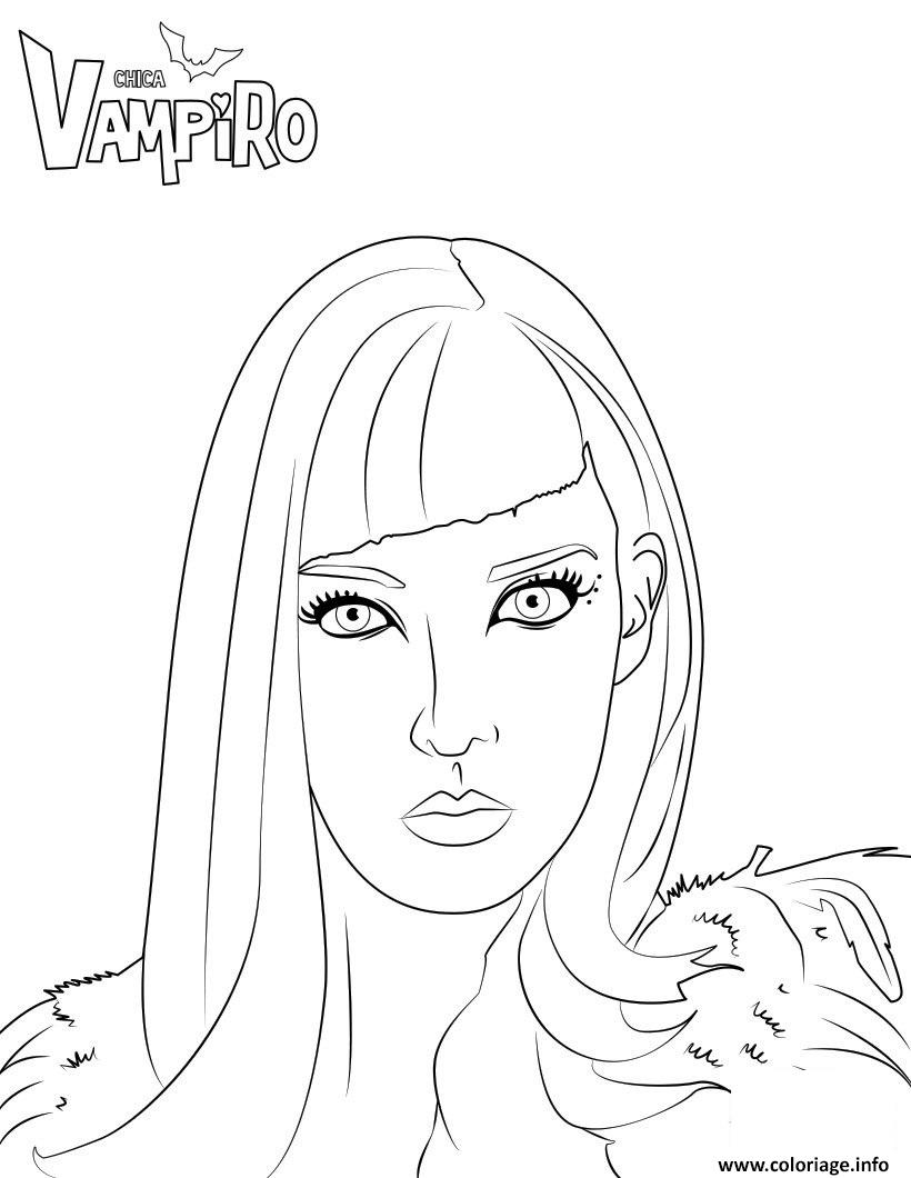 Dessin Catalina ennemie de daisy chica vampiro Coloriage Gratuit à Imprimer