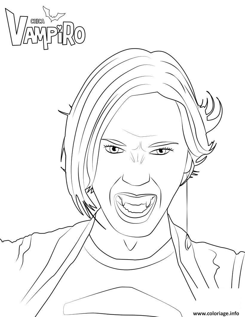 Dessin Zaira Fangoria amie vampire de daisy chica vampiro Coloriage Gratuit à Imprimer